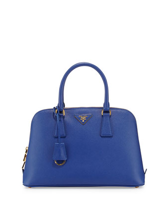 Medium Saffiano Promenade Bag, Blue (Royal)