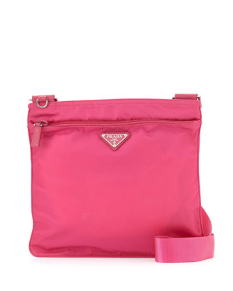 Vela Crossbody Messenger Bag, Pink (Fuxia)