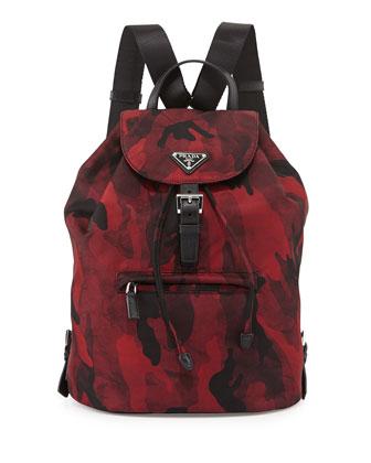 Tessuto Camouflage Backpack, Bordeaux (Bordeaux)