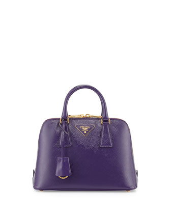 Small Saffiano Promenade Bag, Violet (Viola)