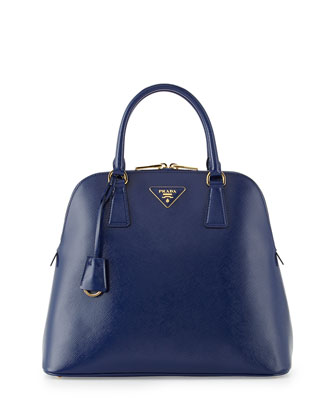 Saffiano Vernice Promenade Bag, Ink Blue (Inchiostro)