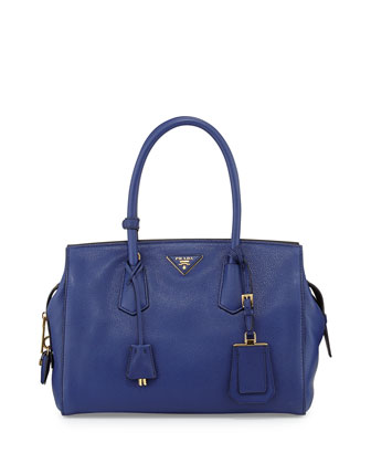Vitello Grain Satchel, Ink Blue (Inchiostro)