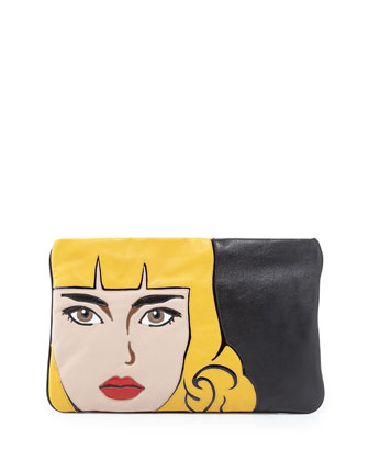 Nappa Clutch Bag, Black (Nero)