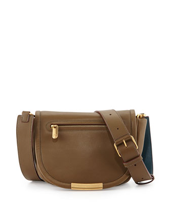 Luna Flap-Top Crossbody Bag, Teak