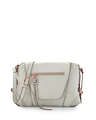 Jolie Leather Crossbody Bag, Blanco