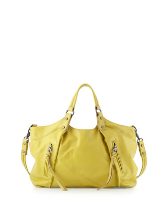 Chloe Leather Satchel, Citron
