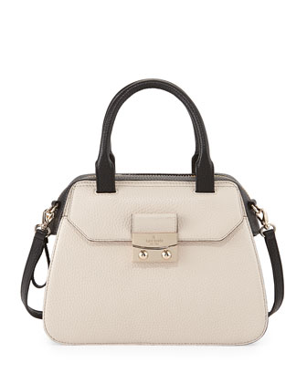 alice street adriana colorblock satchel bag, pebble/black