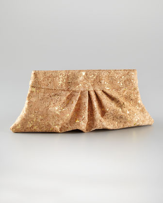 Louise Raffia Clutch Bag, Natural/Silver