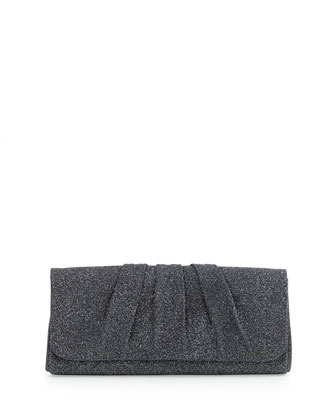 Caroline Crystallized Clutch Bag, Charcoal