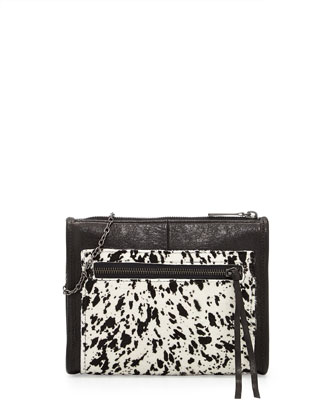 Mini Cece Splatter Calf Hair Shoulder Bag