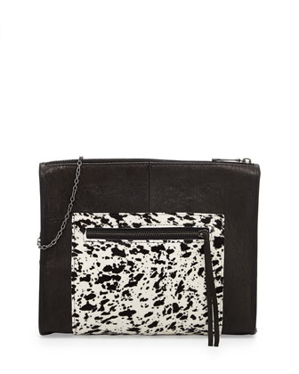 Cece Splatter Calf Hair Shoulder Bag