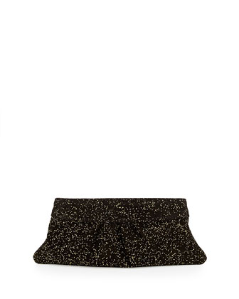 Eve Encrusted Clutch Bag, Black/Gold