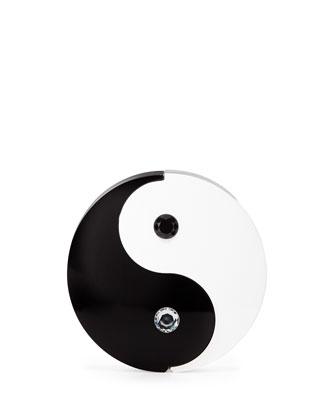 Yin Yang Round Minaudiere, Black/White