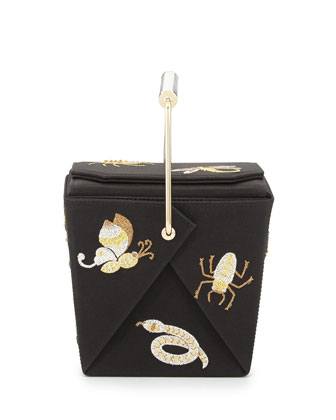 Take Me Away Box Clutch Bag, Black