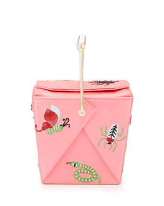 Take Me Away Box Clutch Bag, Pink