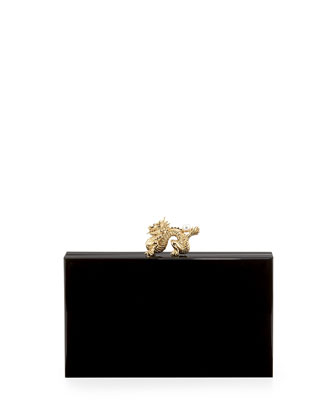 Pandora Dragon Box Clutch, Black