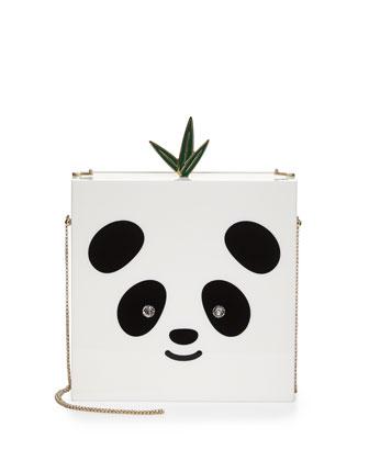 Bao Bao Panda Minaudiere, White/Black