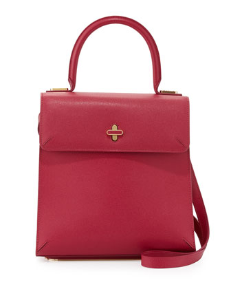 Bogart Leather Top Handle Bag, Pink