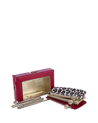 Astaire Box Clutch & Pouch Set, Pink