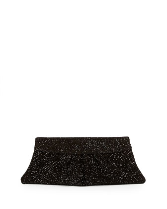 Eve Encrusted Clutch Bag, Black/Pewter