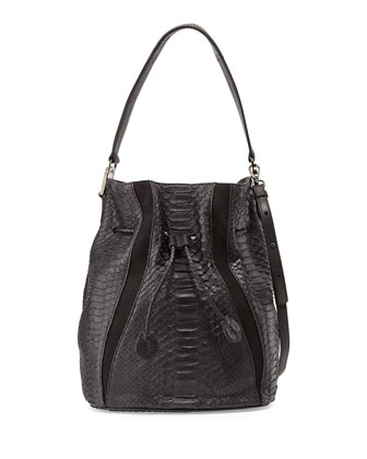 Python Bucket Bag, Black