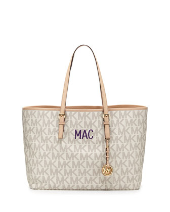 Monogrammed Jet Set Multifunction Logo Travel Tote
