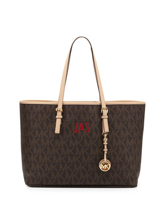 Jet Set Multifunction Logo Travel Tote