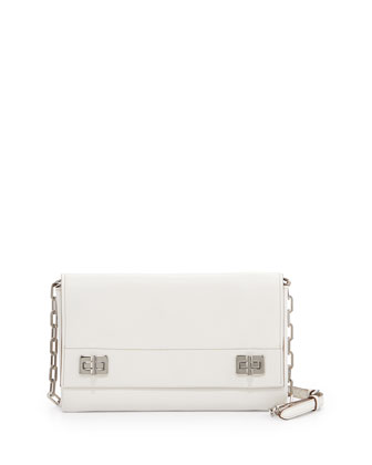 Medium Lux Flap Crossbody Bag, White (Bianco)
