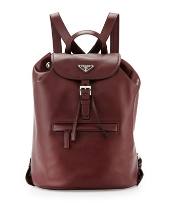 Soft Calfskin Medium Backpack, Bordeaux (Granato)