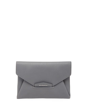 Antigona Sugar Envelope Clutch Bag, Gray
