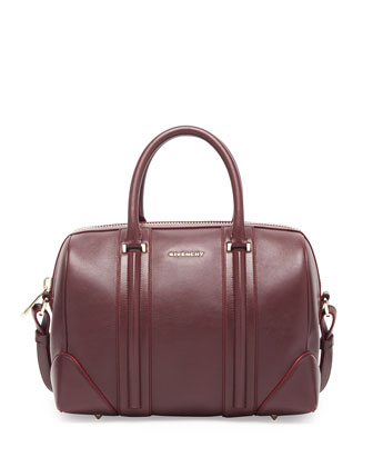 Lucrezia Medium Sandy Bowler Bag, Bordeaux