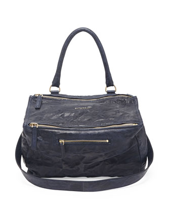 Pandora Pepe Medium Shoulder Bag, Navy