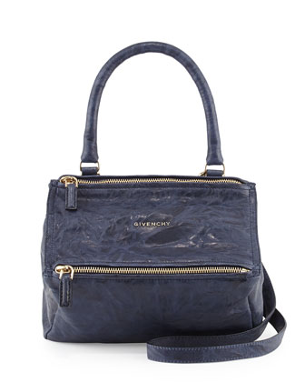 Pandora Small Shoulder Leather Shoulder Bag, Blue
