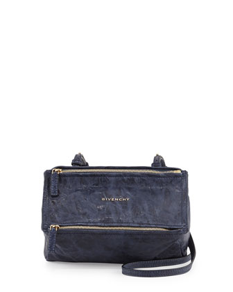Pandora Mini Leather Crossbody Bag, Blue