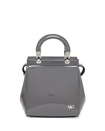 HDG Mini Top-Handle Crossbody Bag, Gray