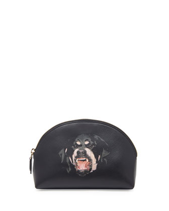 Small Rottweiler Cosmetic Case, Black