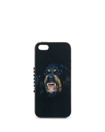 Rottweiler iPhone 5 Hard Shell Case, Black Multi