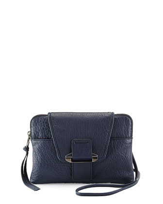 Emery Lambskin Crossbody Bag, Navy