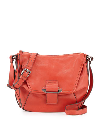 Gary Leather Crossbody Bag, Scarlet