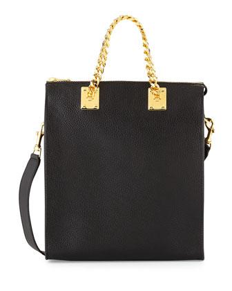 Chain Handle Shopper Bag, Black