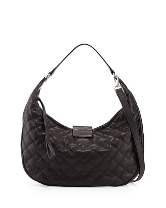 Big Moto Quilted Banana Bag, Black