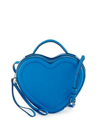 Heart to Heart Crossbody Bag, Electric Blue