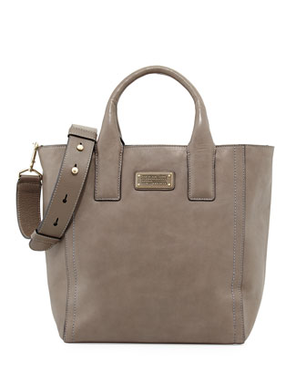 Mility Leather Utility Tote Bag, Cylinder Gray