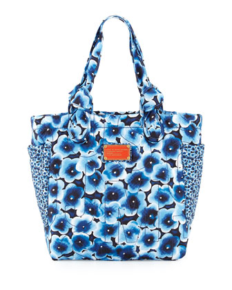 Pretty Nylon Aki Floral Medium Tote Bag, Skipper Blue Multi