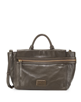 Third Rail Leather Tote Bag, Dirty Martini