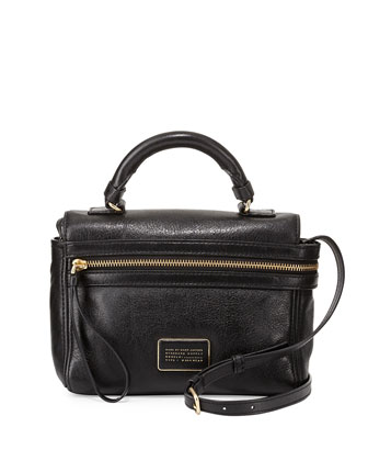 Third Rail Leather Crossbody Bag, Black