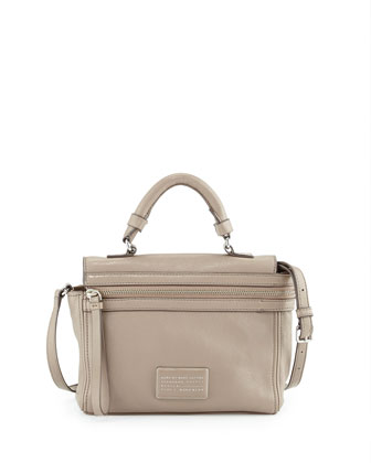 Third Rail Leather Crossbody Bag, Cement