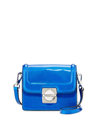 Top Schooly Reflector Jax Crossbody Bag, Blue
