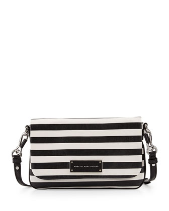 Too Hot to Handle Striped Crossbody Bag, Black Multi