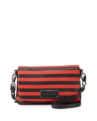 Too Hot to Handle Novelty Flap Percy Striped Crossbody Bag, Cambridge Red ...